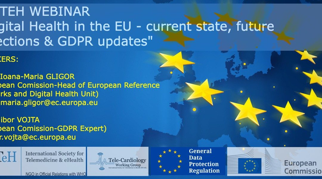 "Webinar ""Digital Health in the EU – current state, future directions & GDPR updates"""